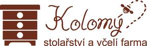 Logo včelařství a stolařství KOLOMÝ